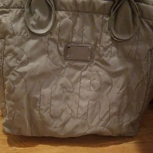 Authentic Marc by Marc Jacobs Taupe Nylon Tote Bag